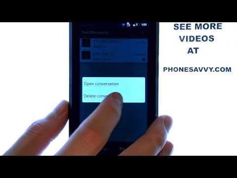 Motorola Droid 4:  How Do I Delete Text Messages?