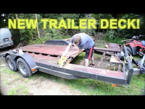 Replace Install New Wood Deck And Painting Car Hauler Trailer
