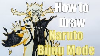 How to draw Naruto Bijuu Mode from Naruto Shippuden