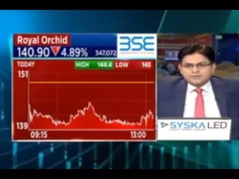 Royal Orchid Hotels Shares Drop | CNBC Awaaz
