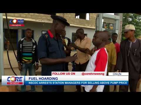 NSCDC ARRESTS STATION MANAGERS FOR FUEL HOARDING...watch & share...!