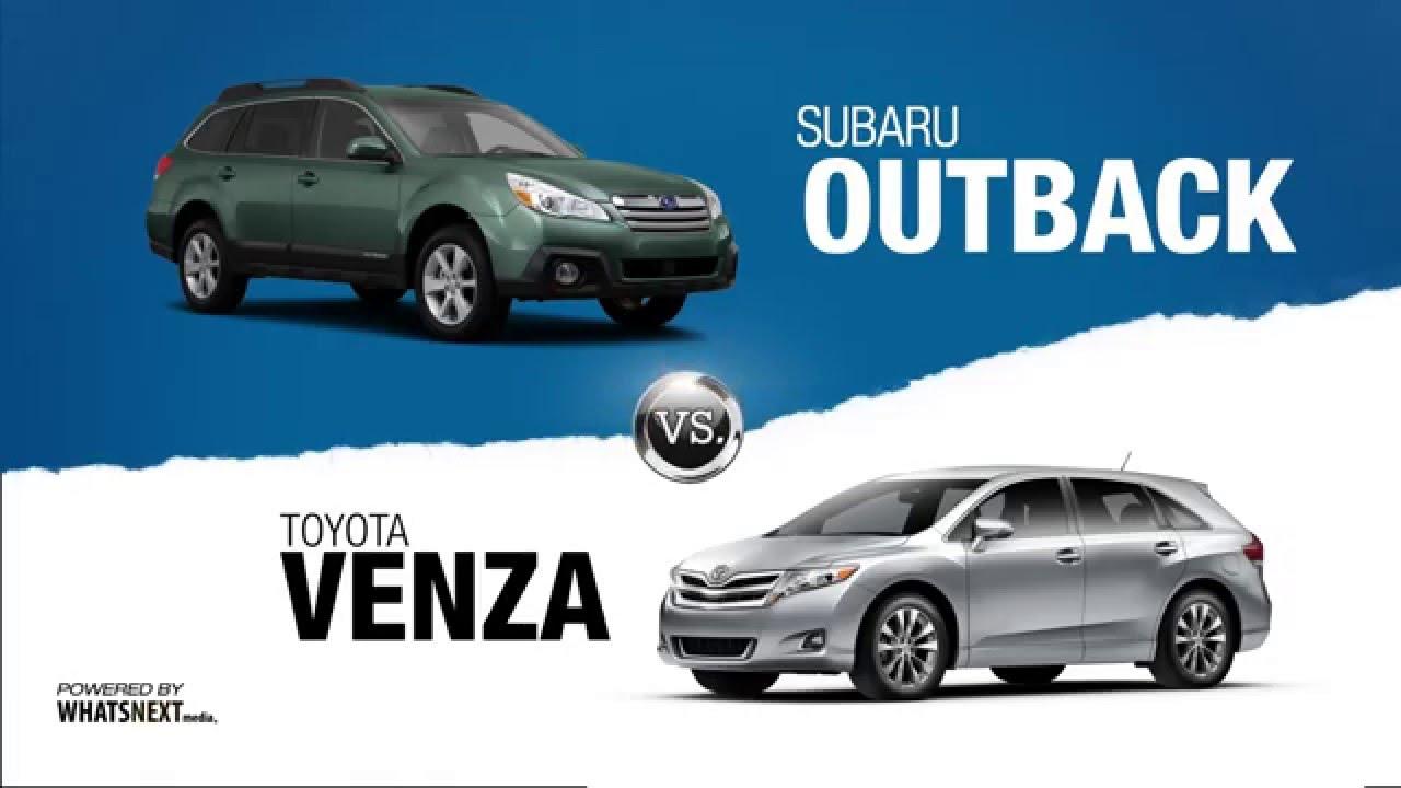 2015 Subaru Outback vs Toyota Venza Comparison from Tacoma Subaru