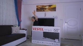 VESTEL 50FD7300 Kutu Açılışı Ve Panel Testi  50 FD 7300 MB211