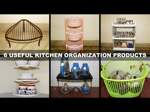 6 Kitchen Organizers Ideas | Pantry Organization Products | Kitchen  Organization Ideas in Tamil