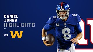 Daniel Jones' Best Plays vs. Washington   NFL 2021 Highlights