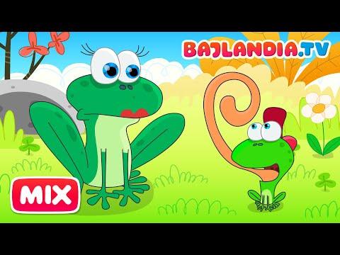 Była Sobie żabka Mała - Piosenki Dla Dzieci Bajlandia.tv - ZESTAW 9 Piosenek