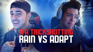 FaZe Rain vs FaZe Adapt - FFA TrickShotting! - HE HIT IT!!