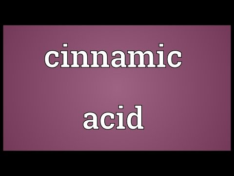 Cinnamic acid Meaning