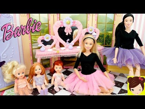 La Bebes de Elsa Ana y Princesa Ariel toman Clase de Ballet con Profesora Barbie