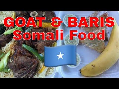 Somali Food 🇸🇴/ MAYE RESTAURANT CAFE | Eating Goat & Baris and Sambusa | MUKBANG