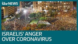 Covid-19: Israelis protest against government's economic response to coronavirus | ITV News