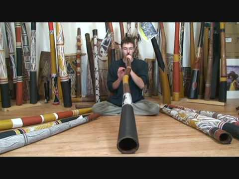Gauthier Aubé Playing a Frank Thill Didgeridoo in F