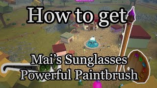 How to get Mai's Sunglasses and Powerful Paintbrush! Roblox Next Gen Event