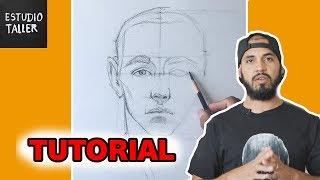 Como Dibujar el rostro humano TIEMPO REAL