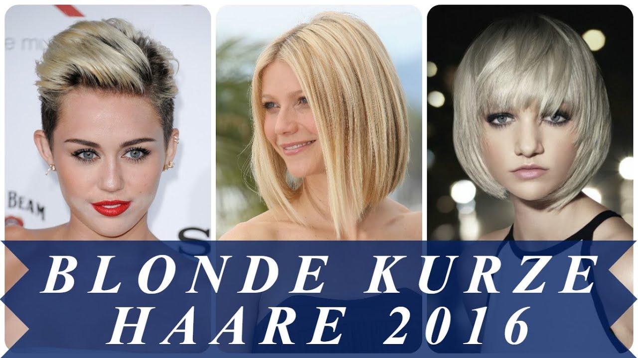 Blonde Kurze Haare 2016 YouTube