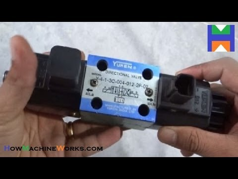 How directional solenoid valve works -- dismantled. ✔