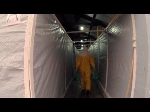 Inside an ebola isolation ward in Guinea