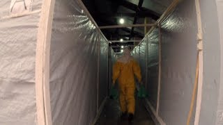 Inside an ebola isolation ward in Guinea