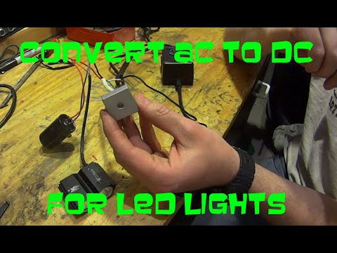 How to convert AC to DC for Dirt Bike LED lights - YouTube