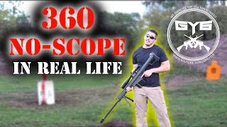 360 No Scope -IN REAL LIFE- 50cal Sniper Rifle