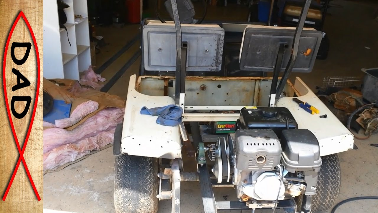 EZ GO golf cart gas conversion  HF Predator 13hp (2 of 2)  YouTube