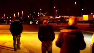 Tractor demolition derby at Walmart superstore parking lot in Toronto (Richmond Hill)