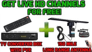 BEST WAY TO CUT THE CABLE CORD-FOR REAL!!TV CONVERTER BOX WITH PVR &150 MILE LONG RANGE ANTENNA