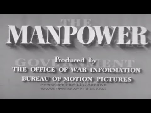 MANPOWER (1943) - Government Film , Rosie the Riveter , Women in WWII 3363