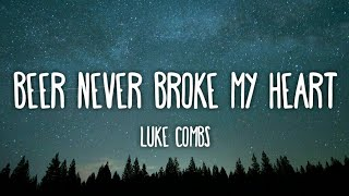 Luke Combs - Beer Never Broke My Heart (Lyrics)
