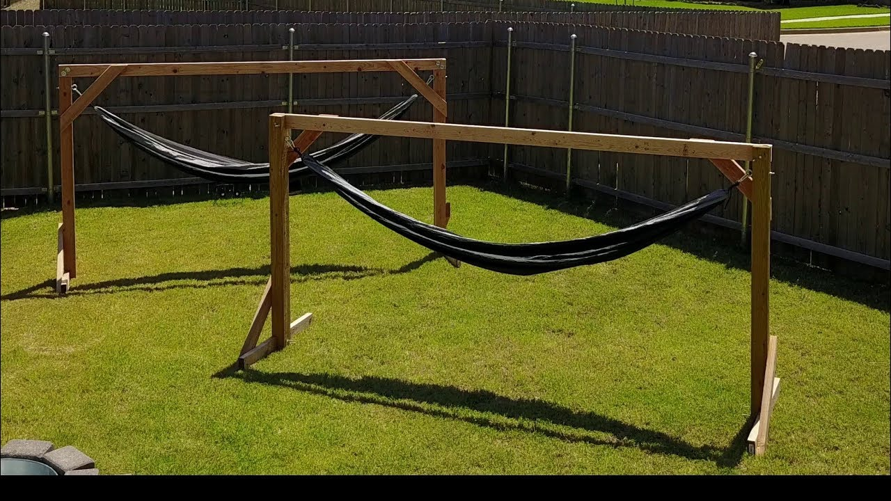 Hammock Stand Designs : Homemade hammock stand easy and cheap youtube