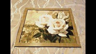 """Алмазная вышивка """"Розы"""" (обзор, подготовка, процесс работы)"""