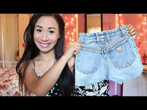 D.I.Y High Waisted Shorts - YouTube