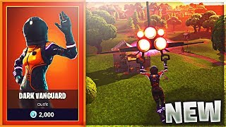 "NEW ""Dark Vanguard"" Skin + INSANE ""Deep Space Lander"" Glider Gameplay in Fortnite!"