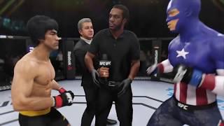 Bruce Lee vs. Captain America (EA Sports UFC 3) - CPU vs. CPU