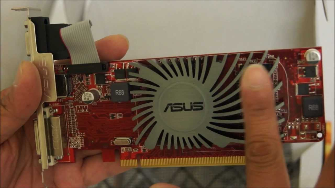 How To Install A Dedicated Pcie Graphic Card Asus Ati Radeon Hd 6450 Silent Hdmi Youtube