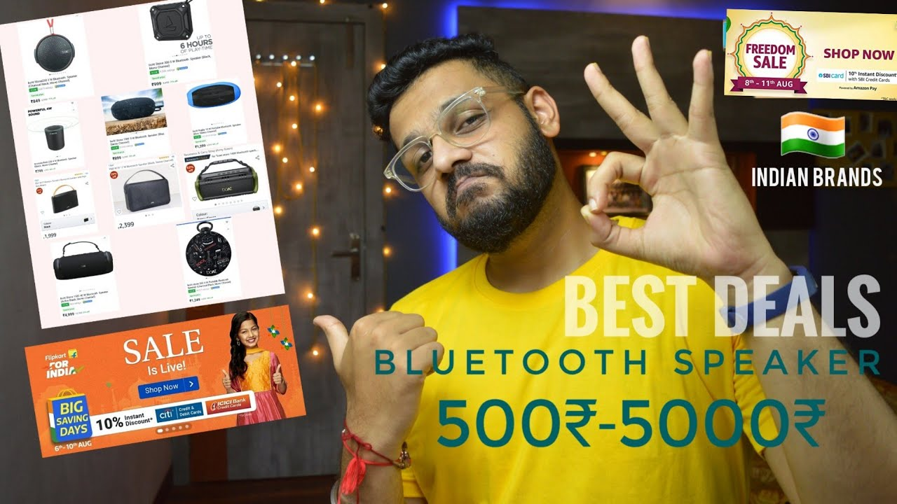 Top Bluetooth Speaker Deals On Amazon Flipkart 500 5000 Ke Kimat Mein Indian Brand Youtube
