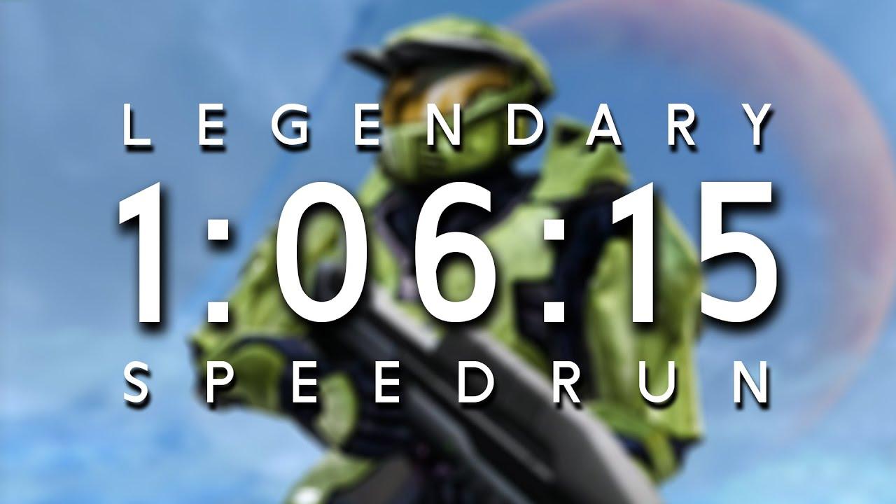 [WR] Halo in 1:06:15 - Legendary Speedrun