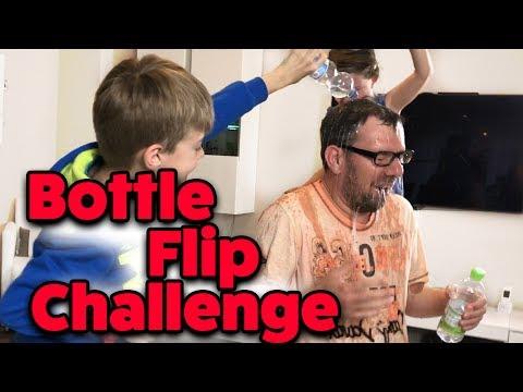 BOTTLE FLIP CHALLENGE - Wir fordern TIPTAPTUBE heraus! mit Lulu & Leon