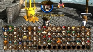 LEGO Pirates of the Caribbean - A Look at all Playable Characters (Complete Character Grid)(This video shows a quick look at every playable character in LEGO Pirates of the Caribbean on the Xbox 360. I still have one video left to post and that shows the ..., 2015-06-24T03:00:00.000Z)