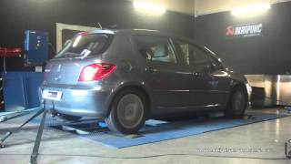 Peugeot 307 1.6 hdi 110cv Reprogrammation Moteur @ 127cv Digiservices Paris 77 Dyno
