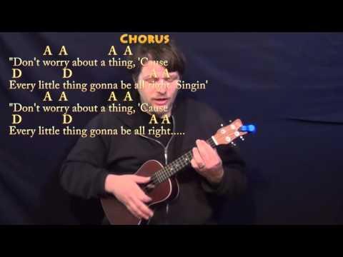 Three Little Birds (Bob Marley) Ukulele Cover Lesson with Chords/Lyrics
