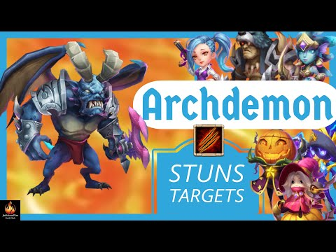 Archdemon Stuns Targets Huge Damage Immune To Energy Reduction (10.44 Billion Damage) | Castle Clash