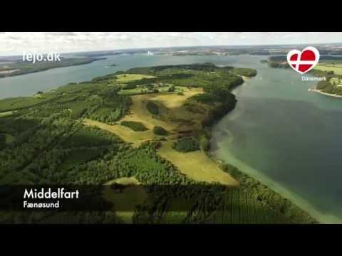 Nordfünen von oben: Middelfart und der Fænøsund