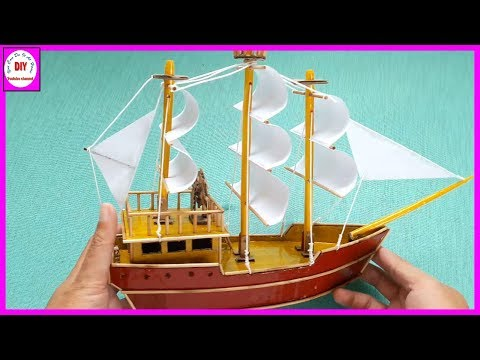 How to make a boat models with cardboard | Sailboat | Do it yourself