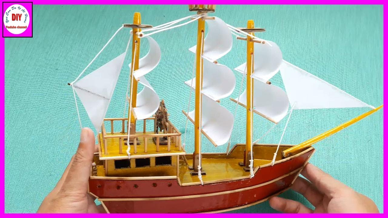 how to make a model of a houseboat