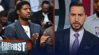 Download Clippers won't be best team in NBA even with return of Paul George — Nick | NBA | FIRST THINGS FIRST Mp3 and Videos