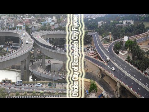 Dhaka City of Bangladesh City Drive City Flyover | Purbachal 300 Feet Road Guide 2017, Rupganj