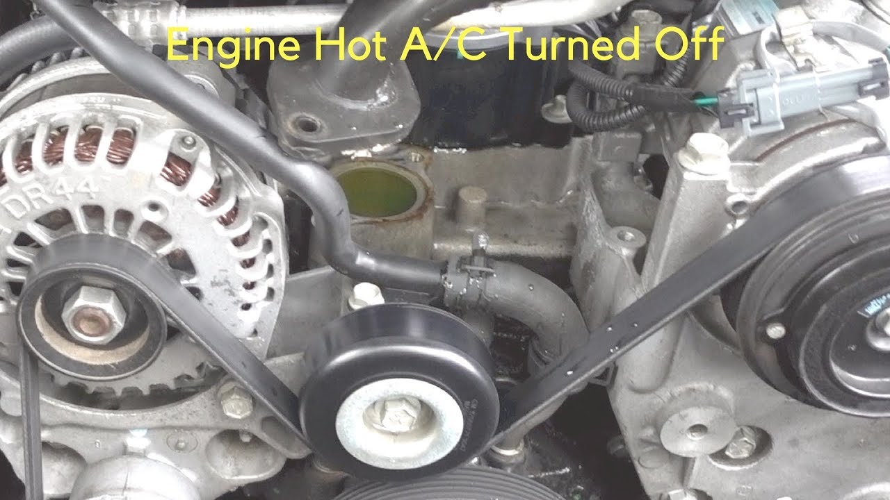 2008 chevy equinox engine hot ac off