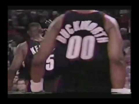 Clyde Drexler Posterizes Bill Cartwright Vs Bulls