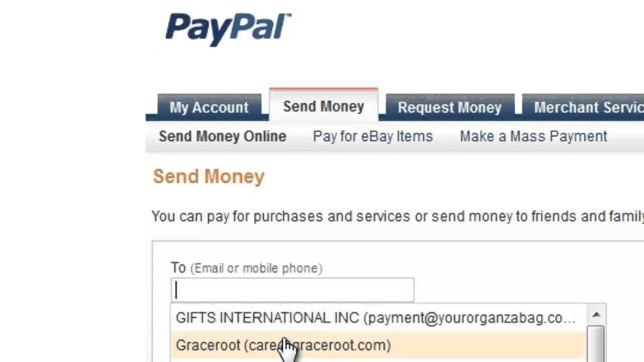 How to Send a Gift on PayPal : Gmail, Tumblr & More - YouTube